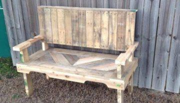 Pallets Made Garden Chair Bench