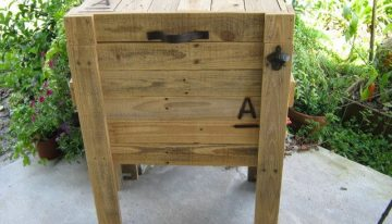 Pallets Wood Water Cooler