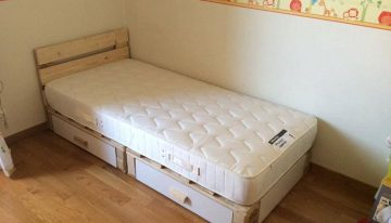 Pallets Kids Bed with Storage