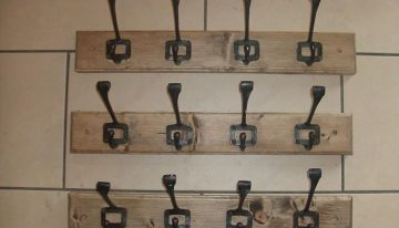 Pallet Vintage School Coat Hangers