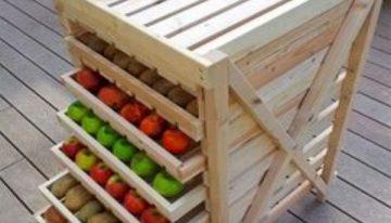 Pallets Vegetables and Fruit Racks