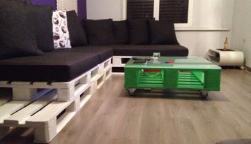 Cute Looking Pallets Made Home Furniture