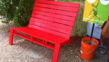 Pallets Made Outdoor Double Chairs