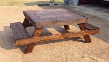 Pallets Colored Benches And Tables