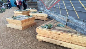 Pallets Wooden Planter Benches