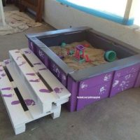 Fabulous Pallets Made Sandbox For The Kids Pallet Ideas