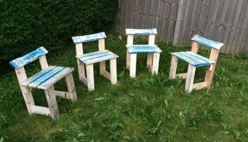Pallets Made Garden Stools