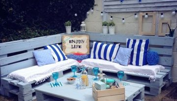 Garden Furniture Set And Corner Sign