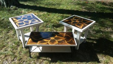 Pallets Made End and Coffee Tables
