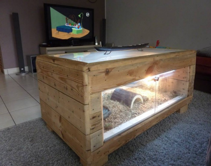 Lighting Table Made With Pallets Wood Pallet Ideas