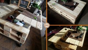 Pallets Coffee Table with Storage