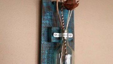 Pallets Wood Wall Hanging Vase