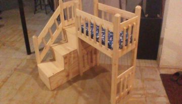 Pallets Wood Made Dog House / Bed