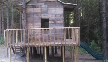 Pallets Wood Made Treehouse