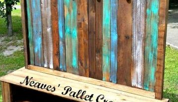 Wooden Pallets Made Customized Hall Tree