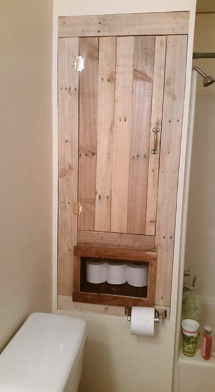Bathroom Storage Made With Pallets Wood Pallet Ideas