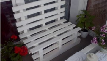 Bench From Pallets On The Balcony