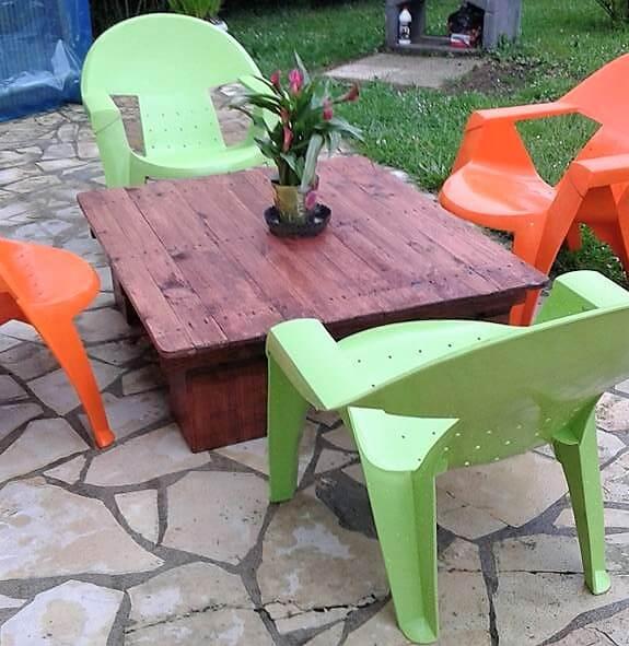 diy outdoor pallets table pallet ideas. Black Bedroom Furniture Sets. Home Design Ideas