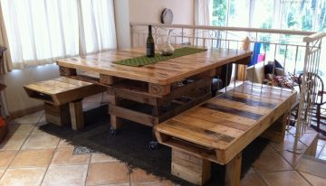 Dining Table Out of Pallets Wood