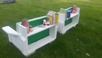 Cute Garden Pallets Seating for Kids