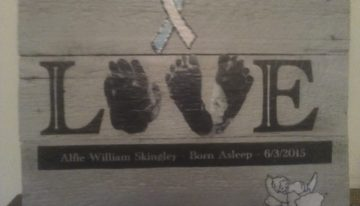 Pallet Wood Baby Memory Plaque