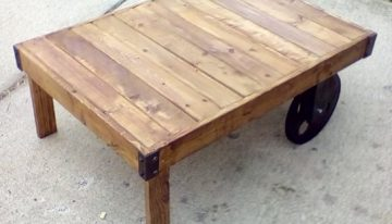 Pallets Coffee Table with Wheels