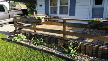Huge Oak Pallets Upcycled to Garden Deck