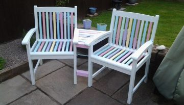 Cute Set of Pallets Garden Furniture with Shed
