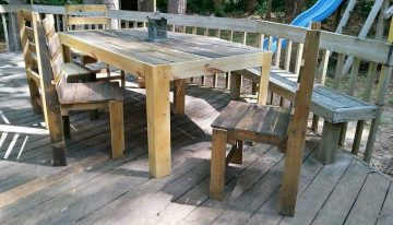 Pallets Patio Deck and Furniture