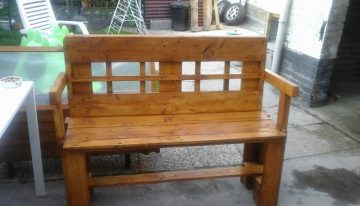 Pallets Made Outdoor Bench
