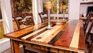 Cute Pallets Made Dinning Table