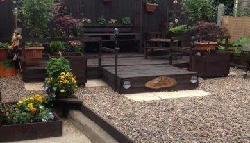 Pallets Wood Beautified Garden