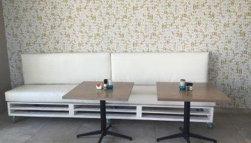 Pallet Wood Made Restaurant Furniture