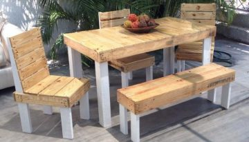 Outdoor Furniture Set Out of Wood Pallet