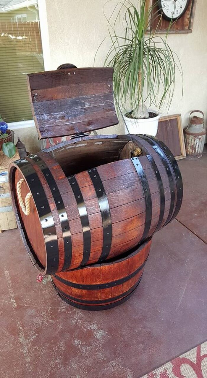 Wine Barrel Ice Chest Pallet Ideas