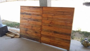 Wood Pallet Bed Headboard