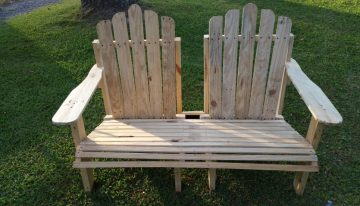 Wooden Pallet Adirondack Bench Chair