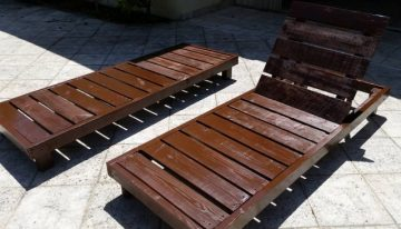 Outdoor Lounge Pallet Chairs