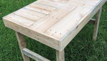 Recycled Wooden Pallet Patio Bench
