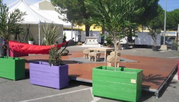 Pallet Outdoor Furniture with Planters