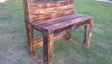 Pallet Wooden Rustic Desk