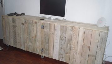 Pallet Wooden TV Stand with Storage