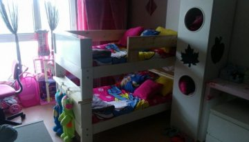 Pallets Wooden Kids Bunk Bed
