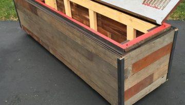 Repurposed Huge Pallet Storage