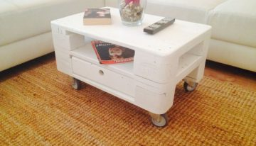 Wood Pallet Coffee Table with Storage