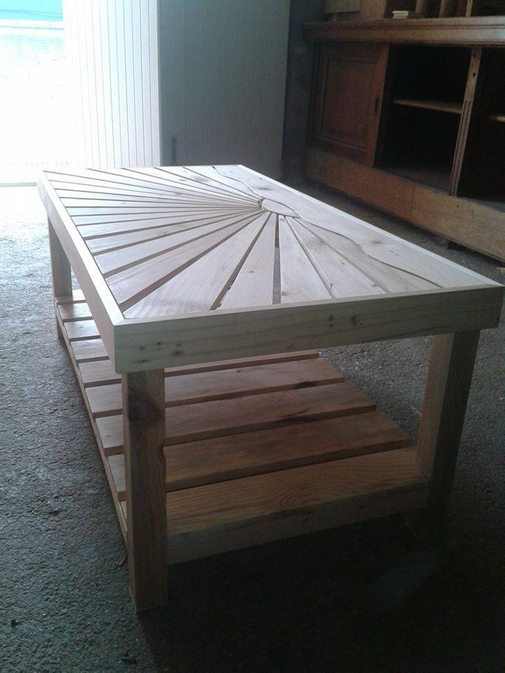 Pallet Wooden Coffee Table | Pallet Ideas: Recycled ...