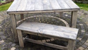 Pallet Wooden Dinning Table with Bench
