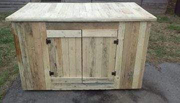 Pallet Counter Desk with Storage