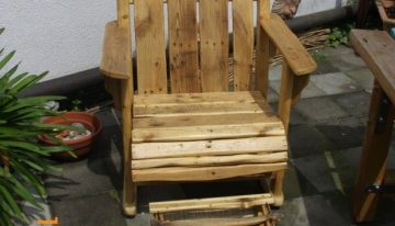 Stunning Pallet Made Patio Chairs