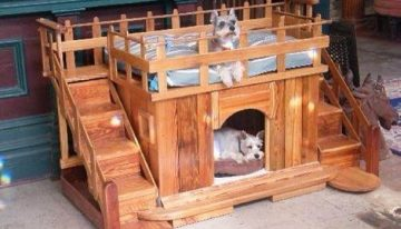 Pallet Made Dog Beds and Houses